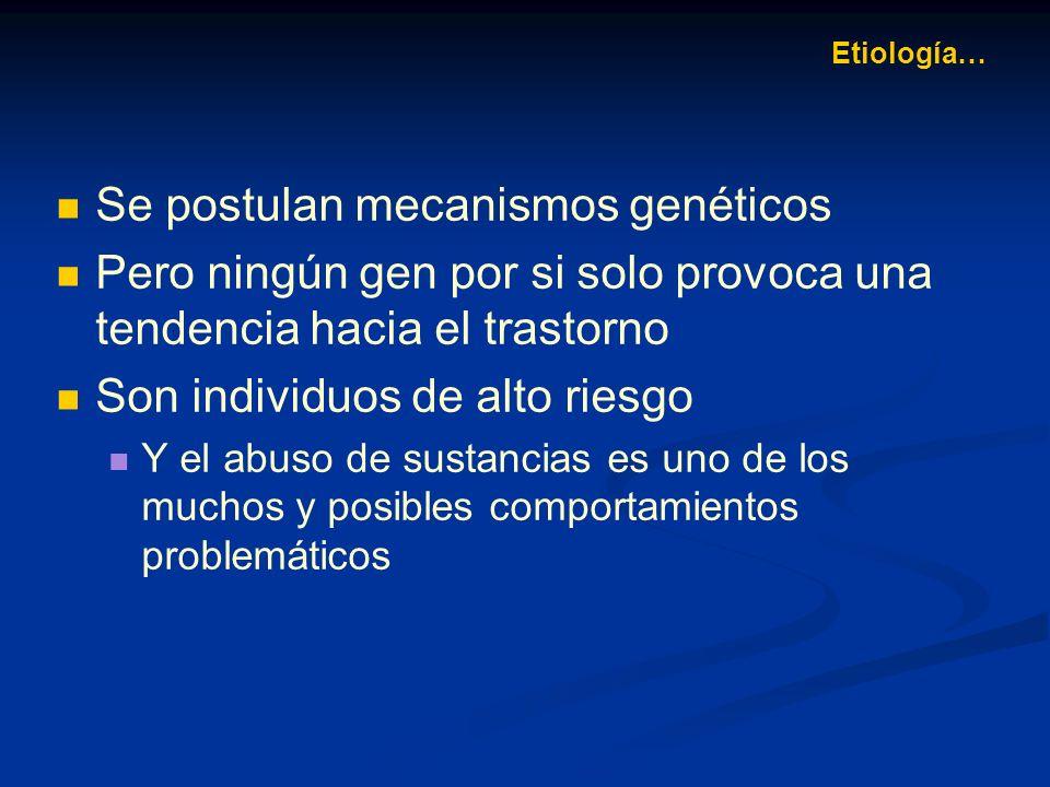 Se postulan mecanismos genéticos