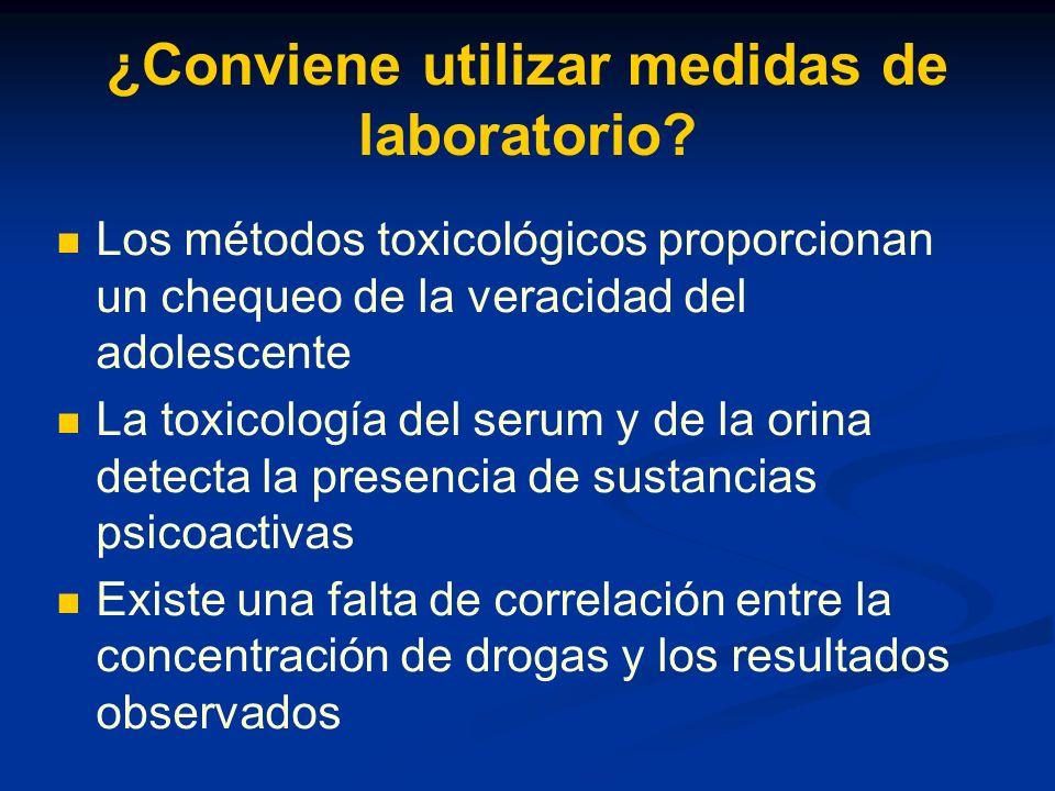 ¿Conviene utilizar medidas de laboratorio