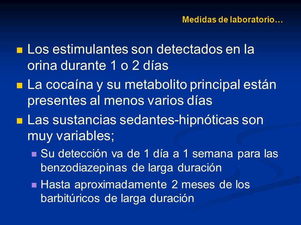 Medidas de laboratorio…