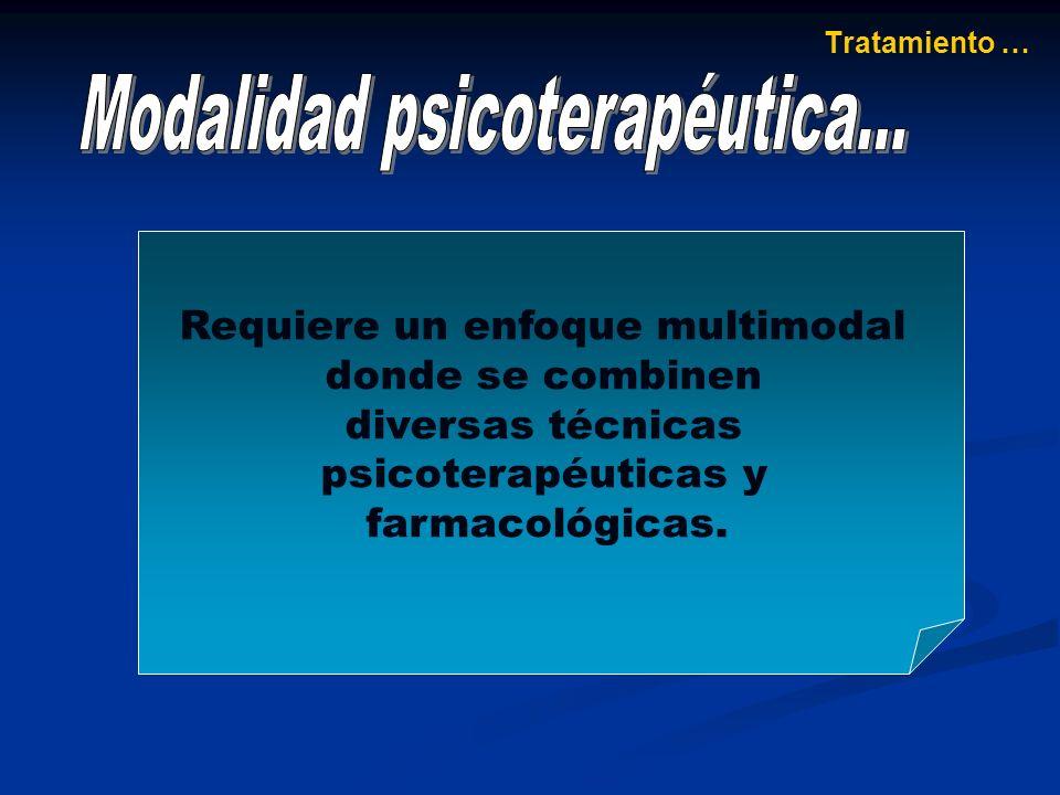 Modalidad psicoterapéutica...