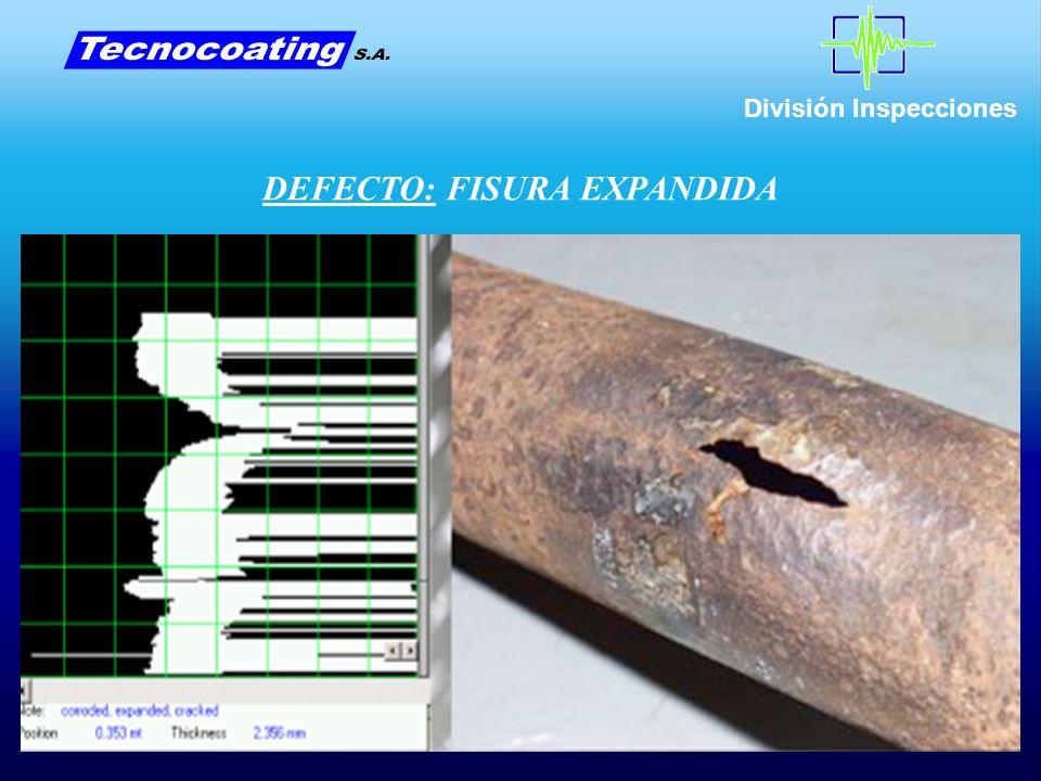 DEFECTO: FISURA EXPANDIDA