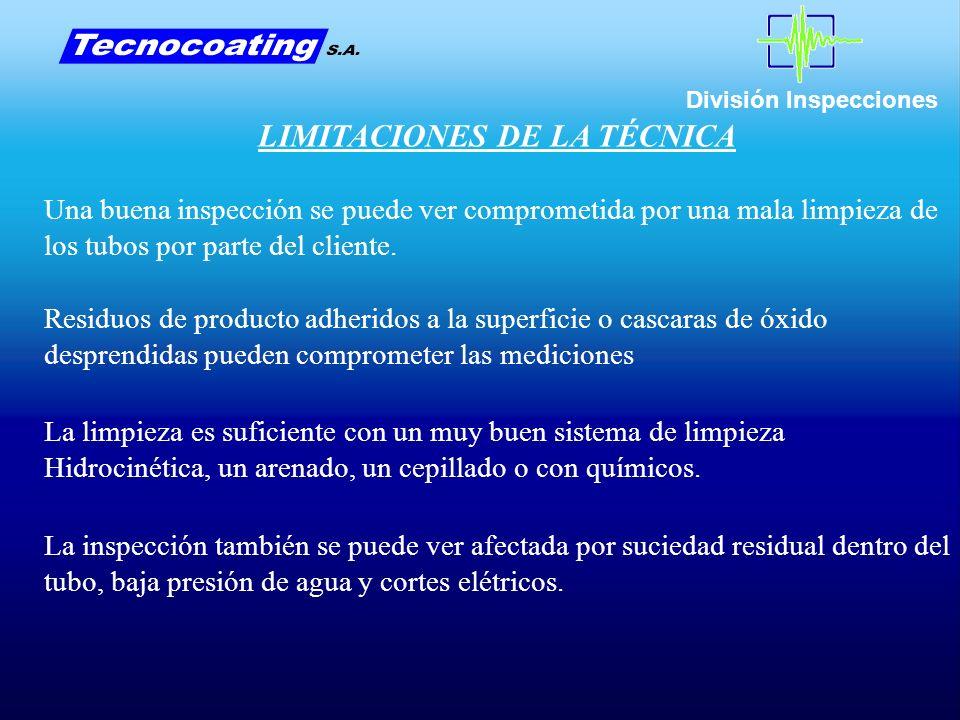 LIMITACIONES DE LA TÉCNICA