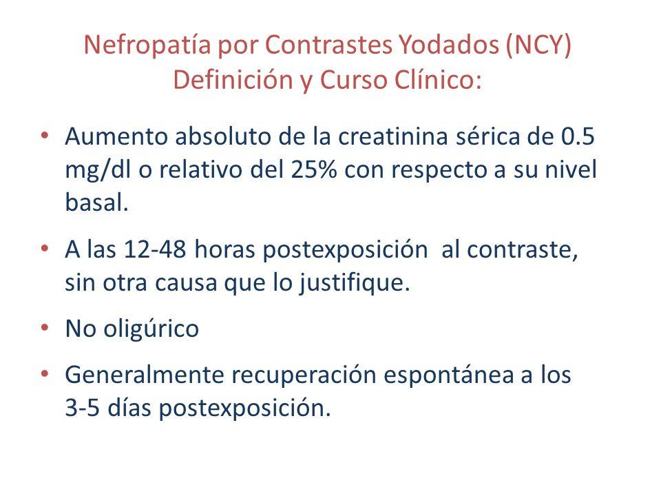 Nefropatía por Contrastes Yodados (NCY) Definición y Curso Clínico: