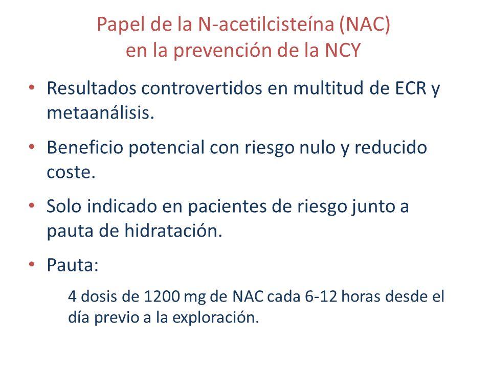 Papel de la N-acetilcisteína (NAC) en la prevención de la NCY