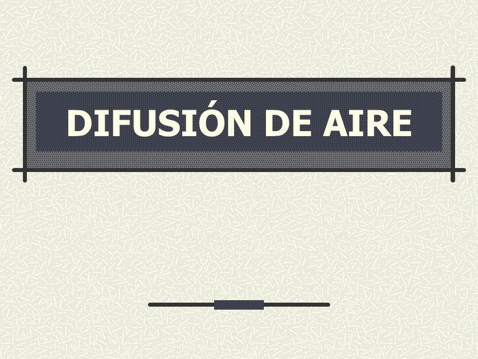DIFUSIÓN DE AIRE