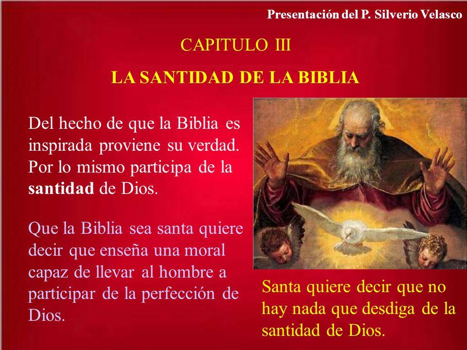 LA SANTIDAD DE LA BIBLIA