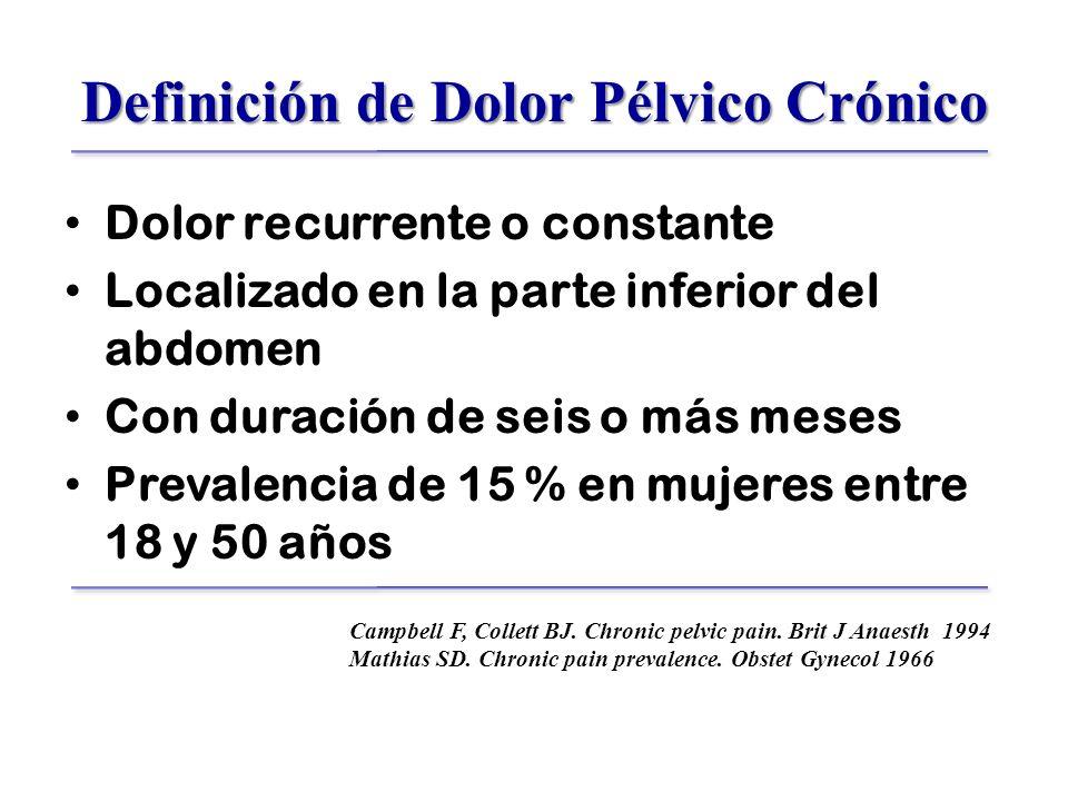 Definición de Dolor Pélvico Crónico