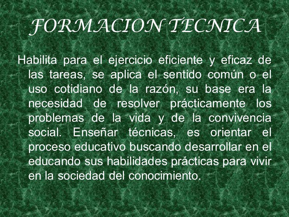 FORMACION TECNICA