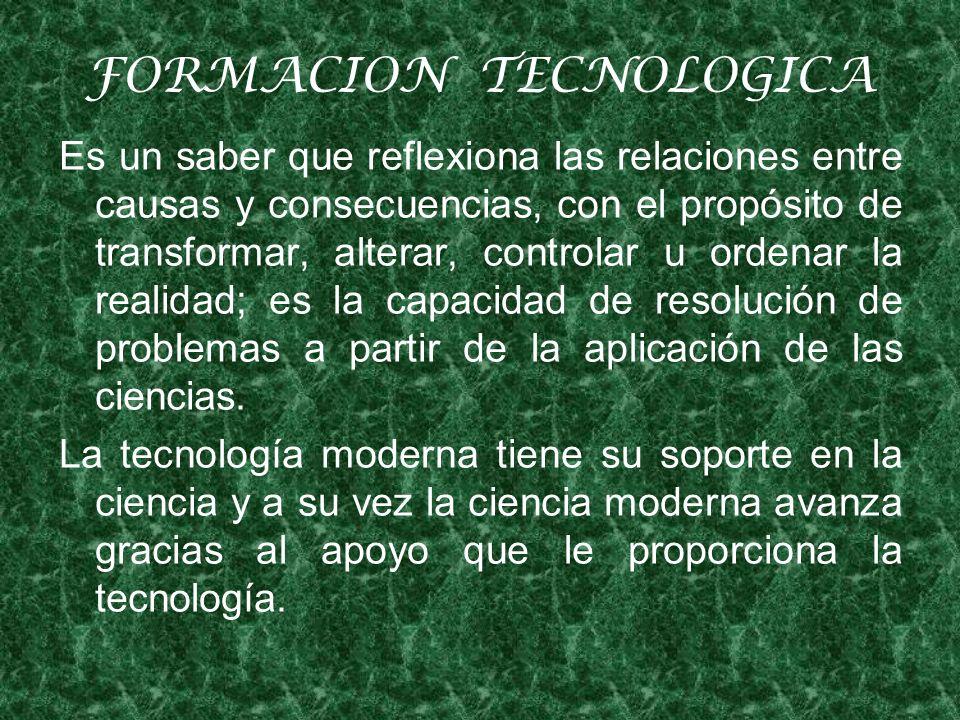 FORMACION TECNOLOGICA