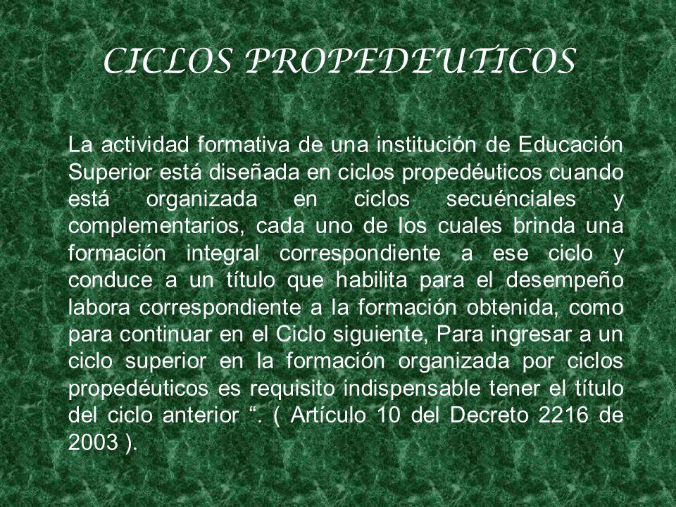 CICLOS PROPEDEUTICOS