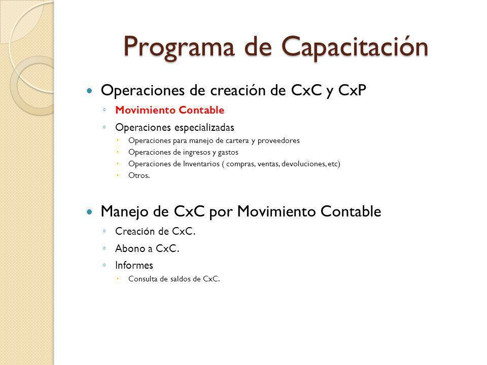 Programa de Capacitación