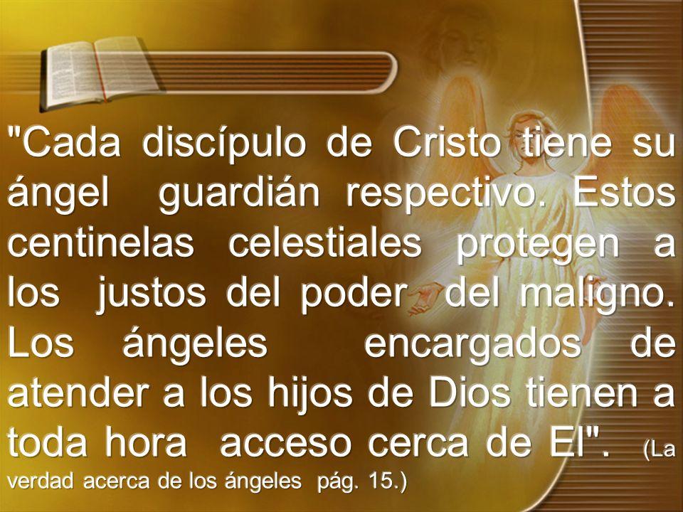 Cada discípulo de Cristo tiene su ángel guardián respectivo