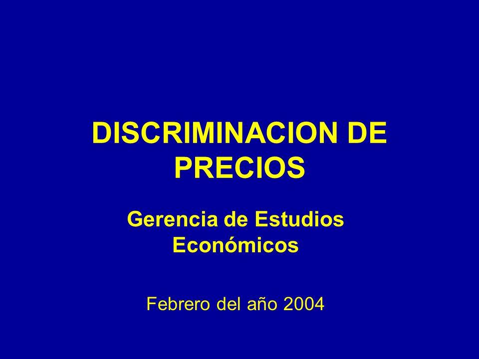 DISCRIMINACION DE PRECIOS