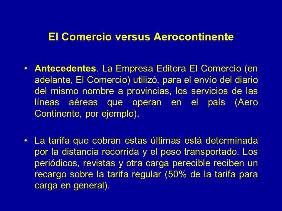 El Comercio versus Aerocontinente