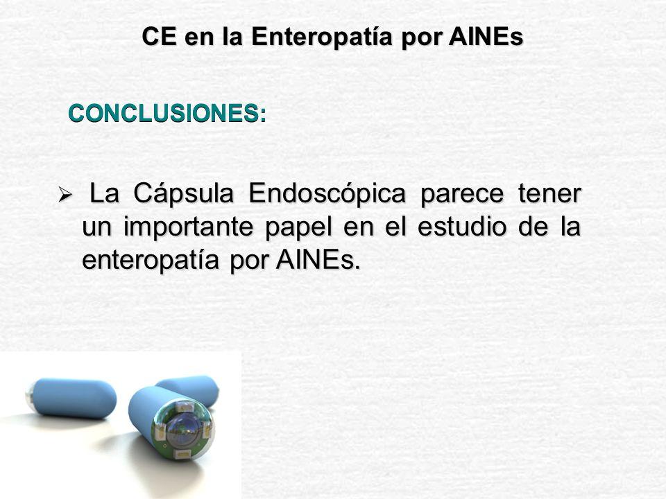 CE en la Enteropatía por AINEs