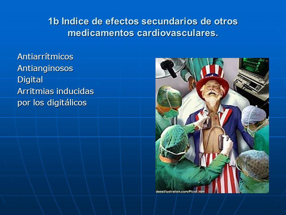 1b Indice de efectos secundarios de otros medicamentos cardiovasculares.