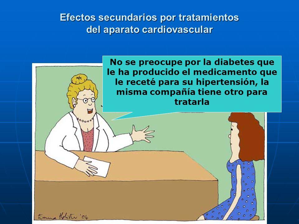 Efectos secundarios por tratamientos del aparato cardiovascular