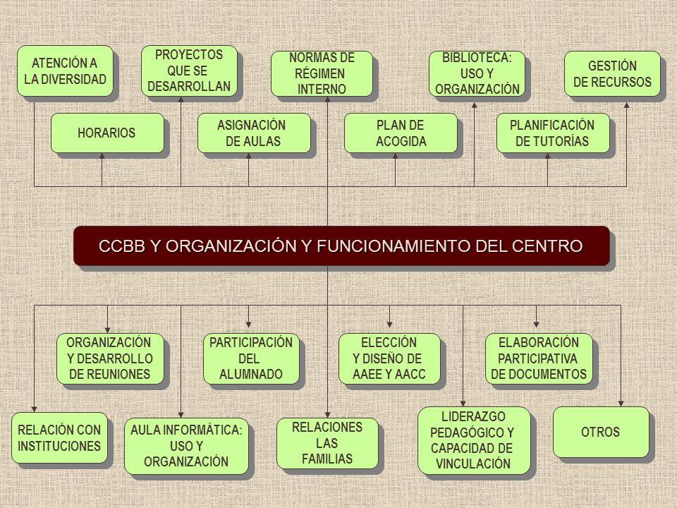 CCBB Y ORGANIZACIÓN Y FUNCIONAMIENTO DEL CENTRO