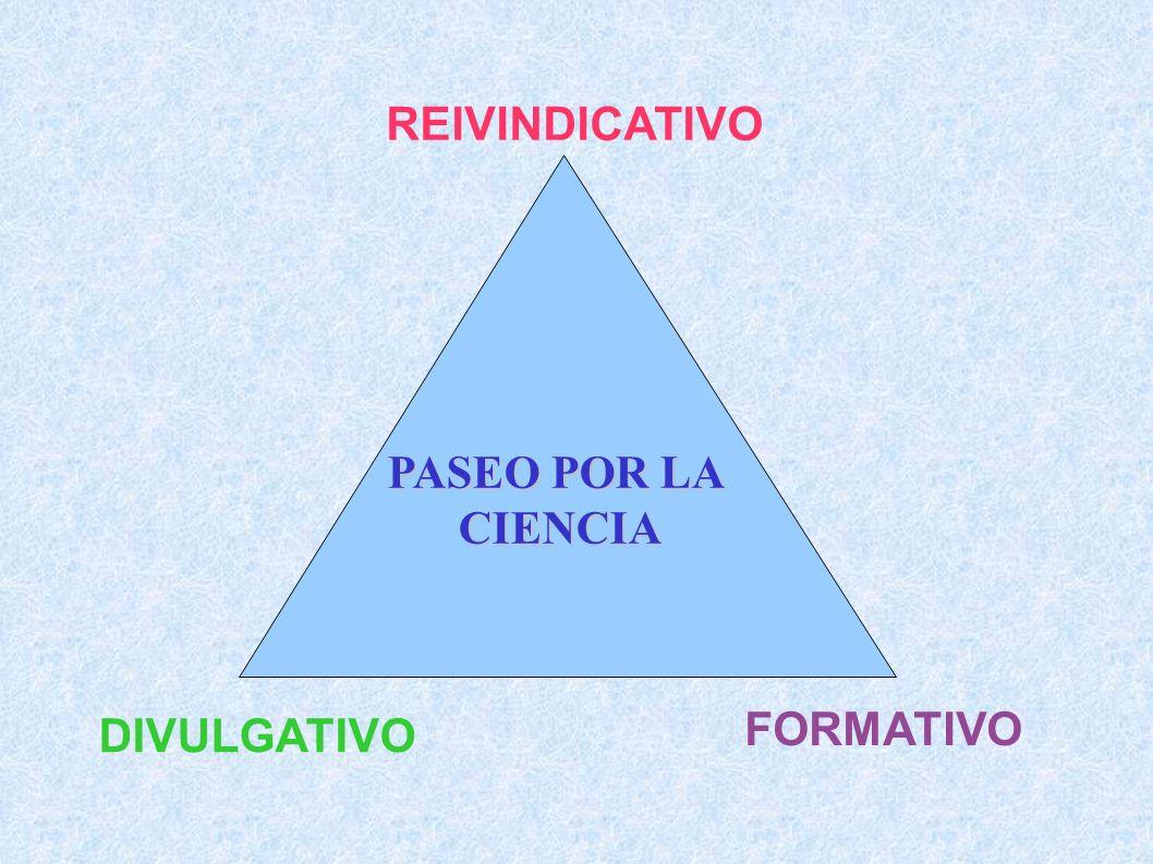 REIVINDICATIVO PASEO POR LA CIENCIA FORMATIVO DIVULGATIVO
