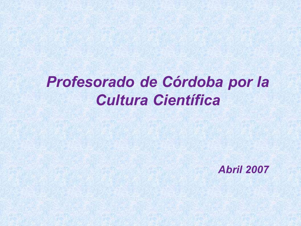 Profesorado de Córdoba por la Cultura Científica