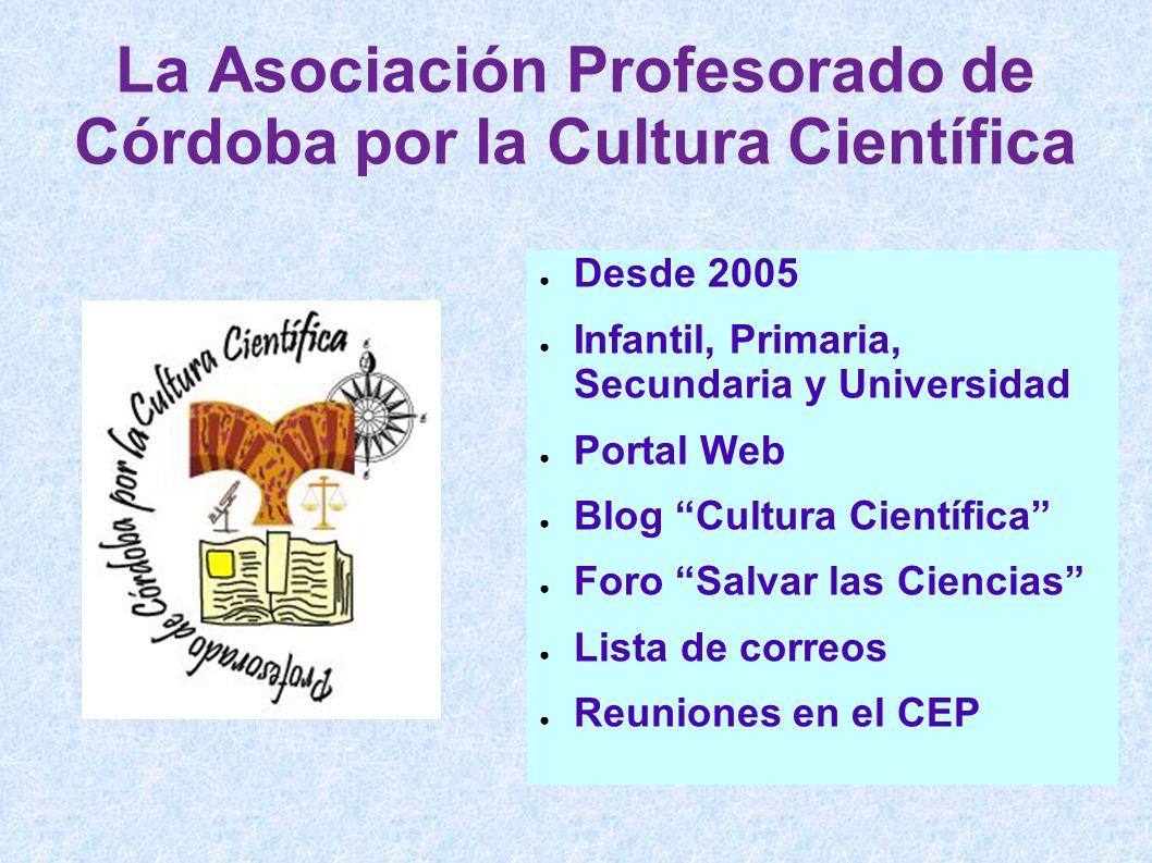 La Asociación Profesorado de Córdoba por la Cultura Científica
