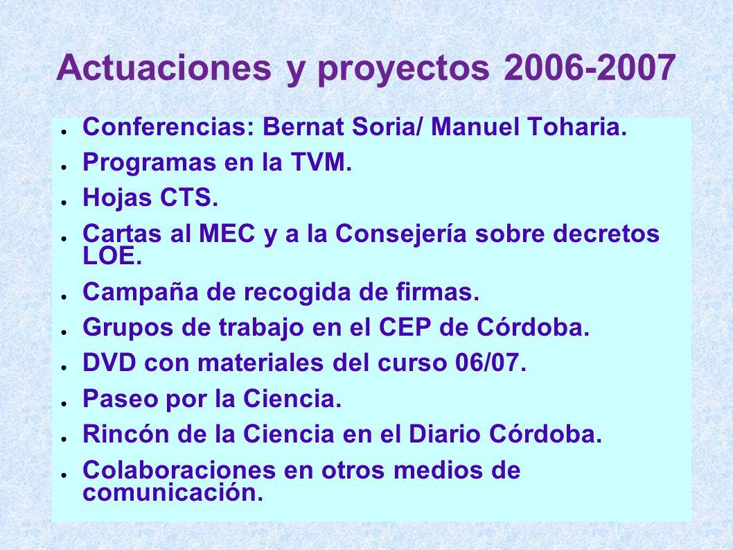 Actuaciones y proyectos 2006-2007