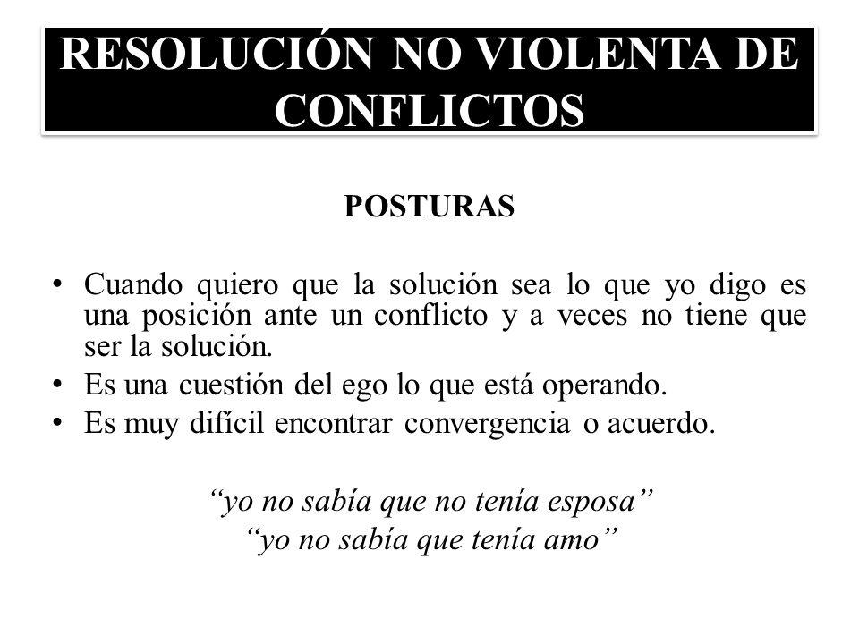 RESOLUCIÓN NO VIOLENTA DE CONFLICTOS