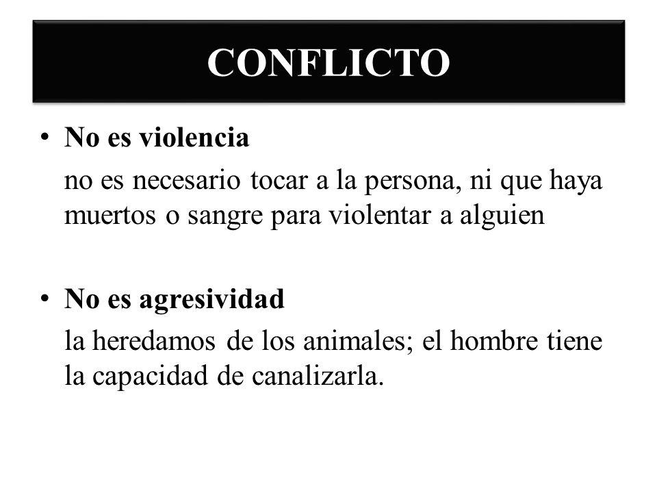 CONFLICTO No es violencia