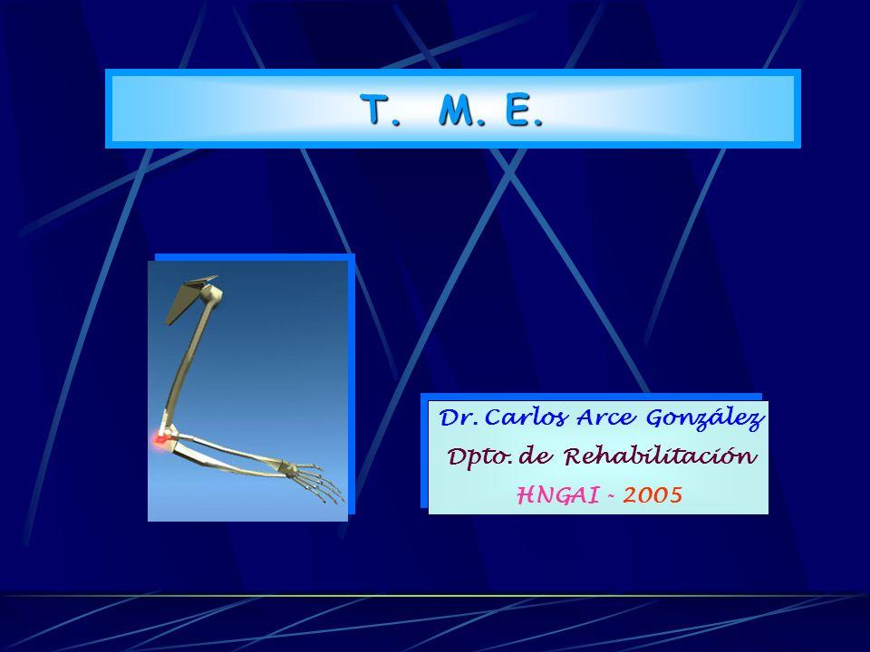T. M. E. TRASTORNOS MUSCULOESQUELETICOS Dr. Carlos Arce González