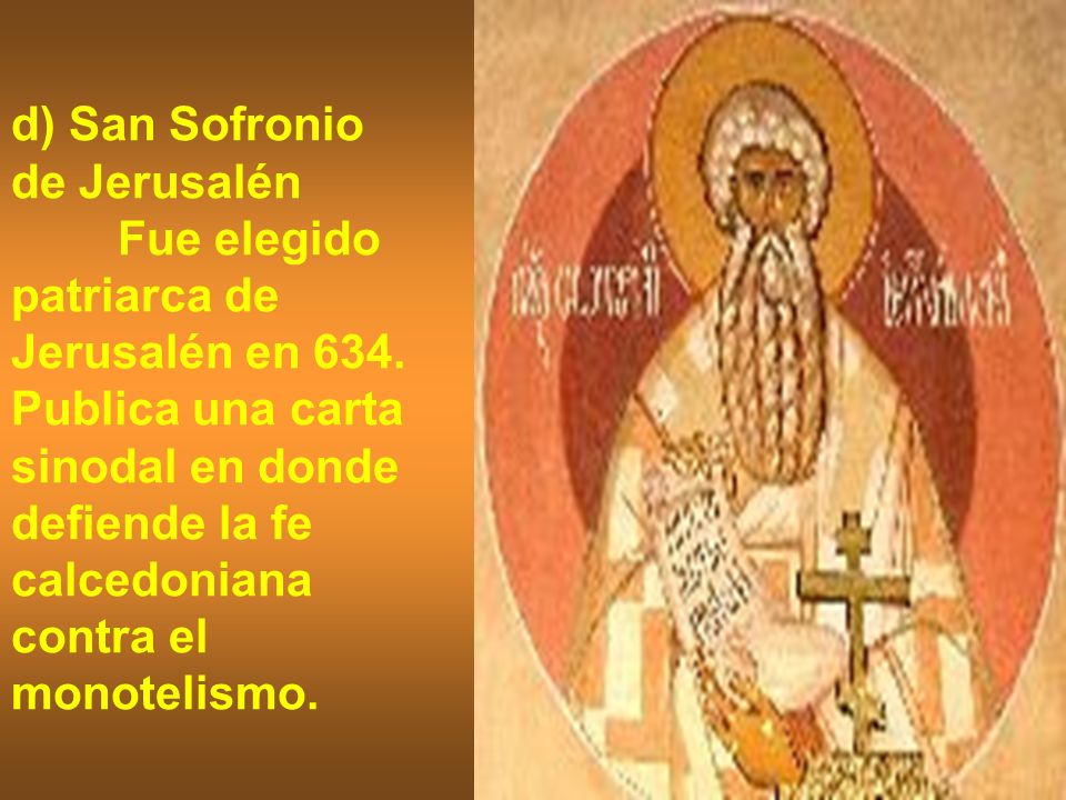 d) San Sofronio de Jerusalén