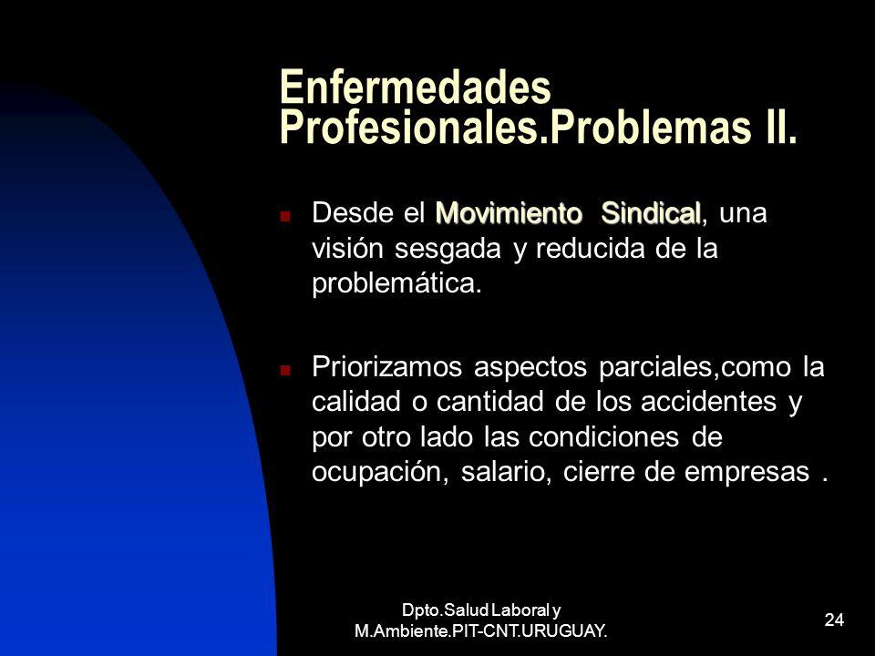 Enfermedades Profesionales.Problemas II.