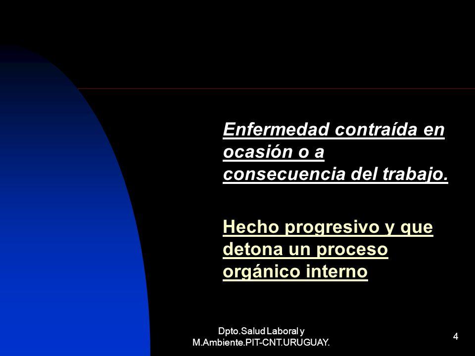 Dpto.Salud Laboral y M.Ambiente.PIT-CNT.URUGUAY.