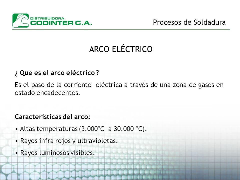 ARCO ELÉCTRICO Procesos de Soldadura ¿ Que es el arco eléctrico