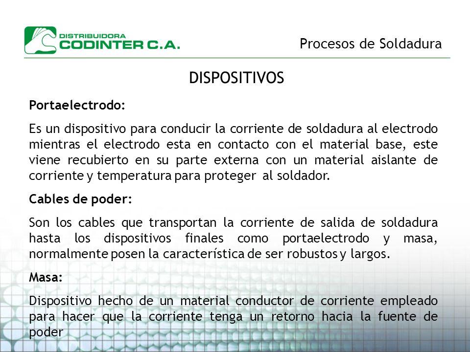 DISPOSITIVOS Procesos de Soldadura Portaelectrodo:
