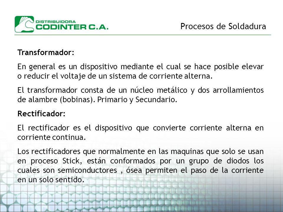 Procesos de Soldadura Transformador: