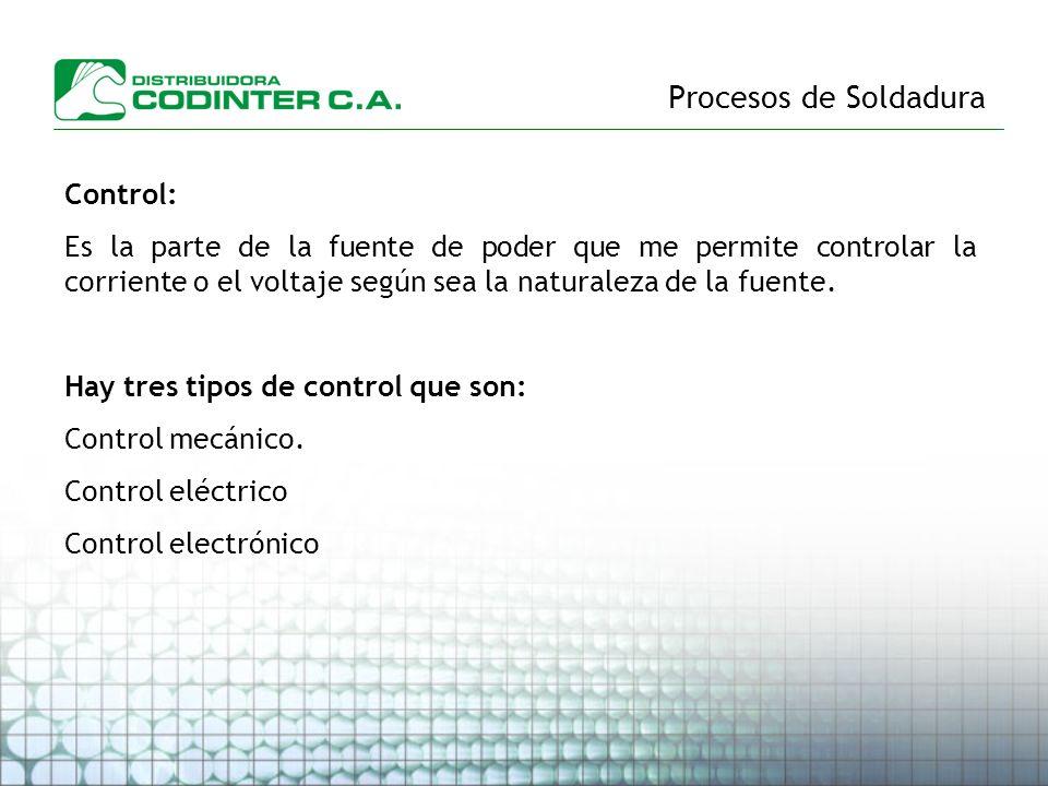 Procesos de Soldadura Control: