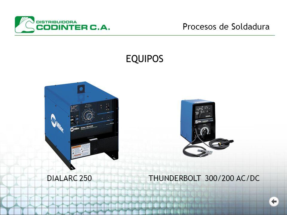 Procesos de Soldadura EQUIPOS DIALARC 250 THUNDERBOLT 300/200 AC/DC