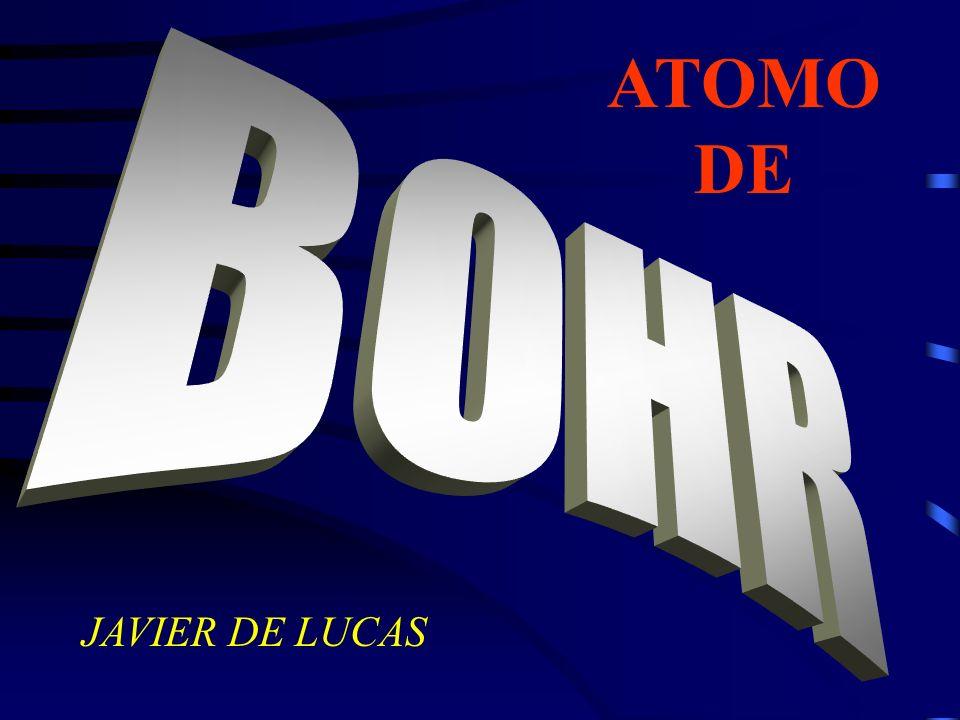 ATOMO DE BOHR JAVIER DE LUCAS