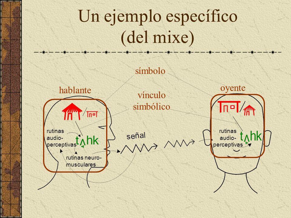 Un ejemplo específico (del mixe)