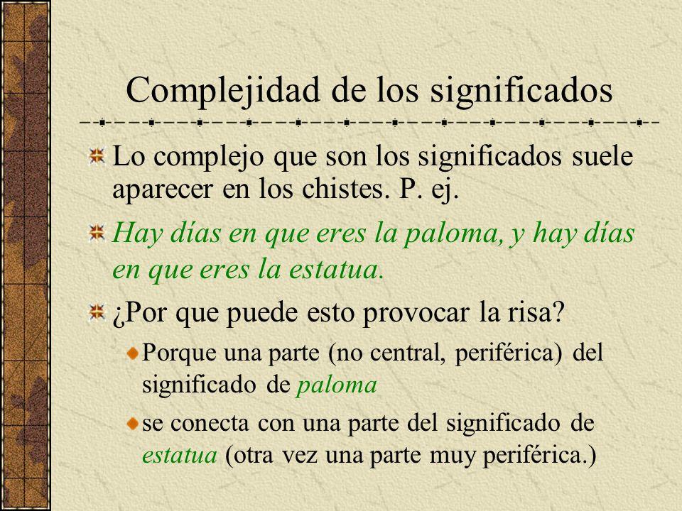 Complejidad de los significados