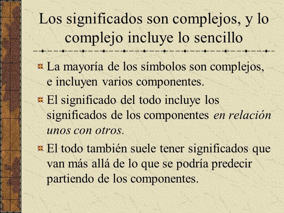 Los significados son complejos, y lo complejo incluye lo sencillo