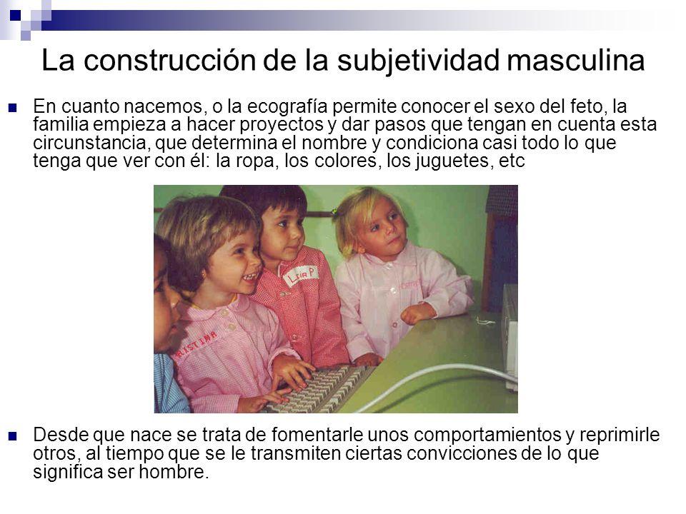 La construcción de la subjetividad masculina