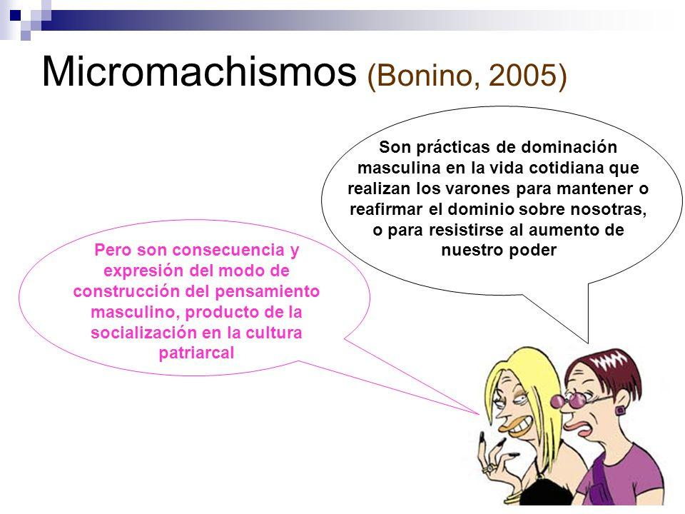 Micromachismos (Bonino, 2005)