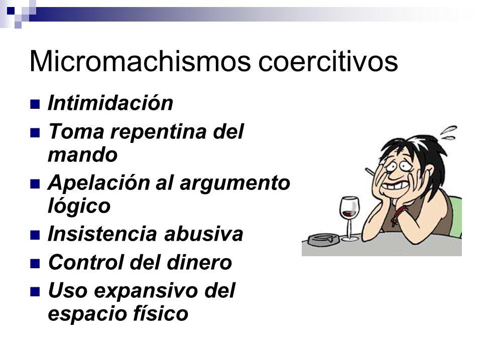 Micromachismos coercitivos