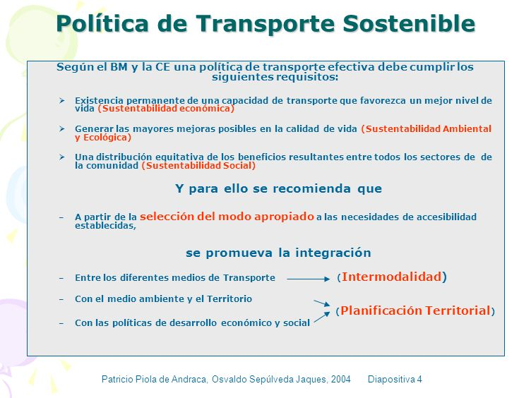 Política de Transporte Sostenible