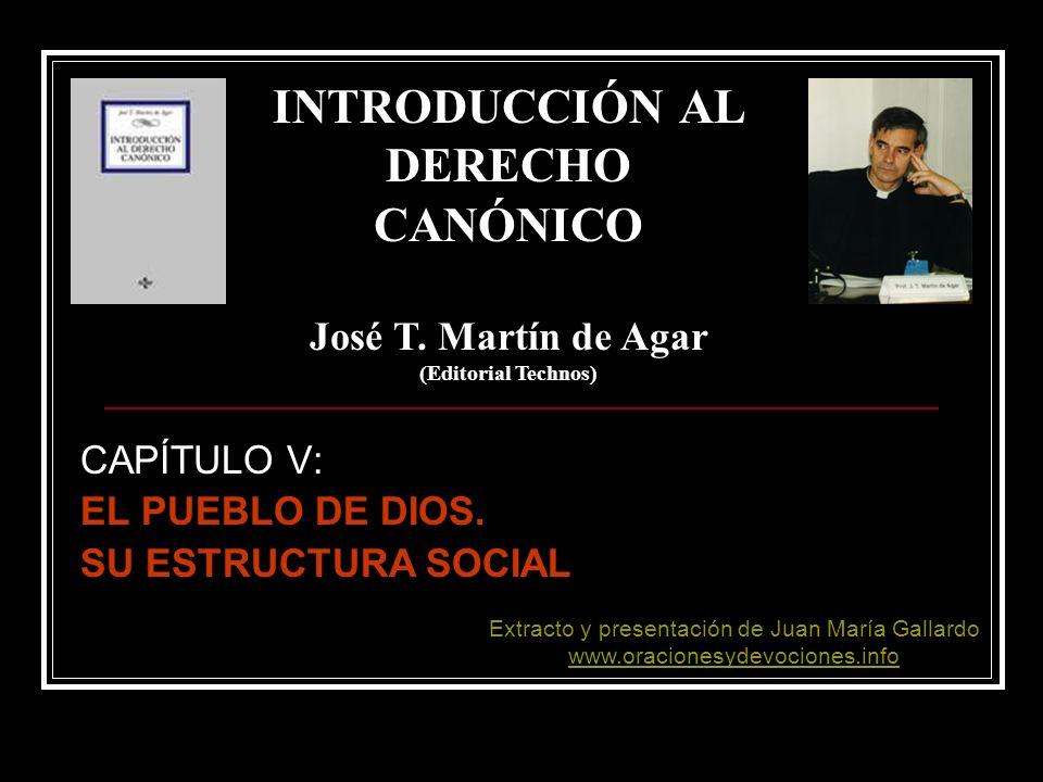 CAPÍTULO V: EL PUEBLO DE DIOS. SU ESTRUCTURA SOCIAL