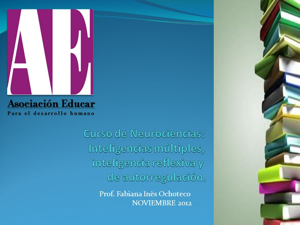 Prof. Fabiana Inès Ochoteco NOVIEMBRE 2012