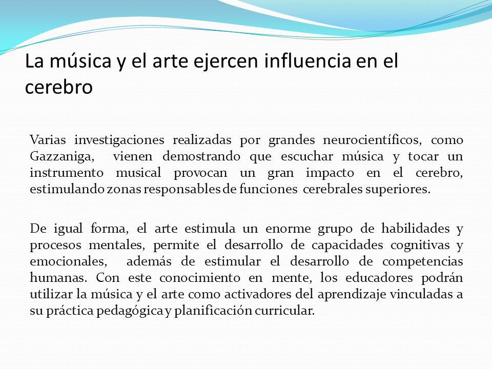 La música y el arte ejercen influencia en el cerebro