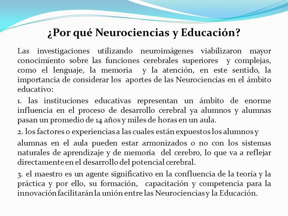 ¿Por qué Neurociencias y Educación