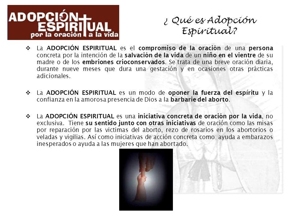 ¿ Qué es Adopción Espiritual